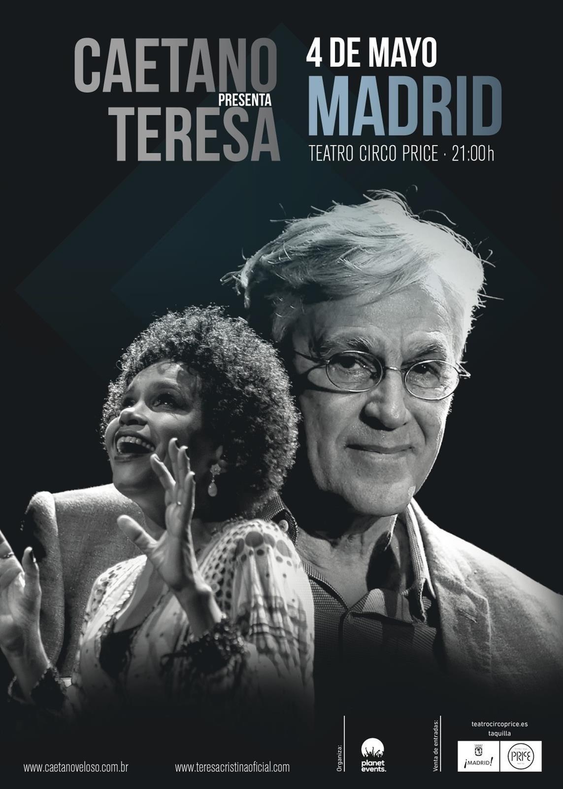 Concierto Caetano Veloso, Teresa Cristina y Carlinhos Sete Cordas 04/05/17( FOTOS)