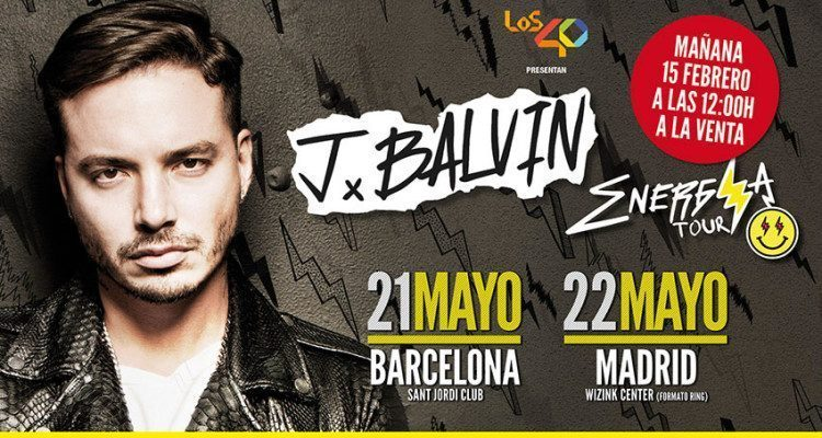 Concierto J Balvin Wizink Center Madrid 22/05/17