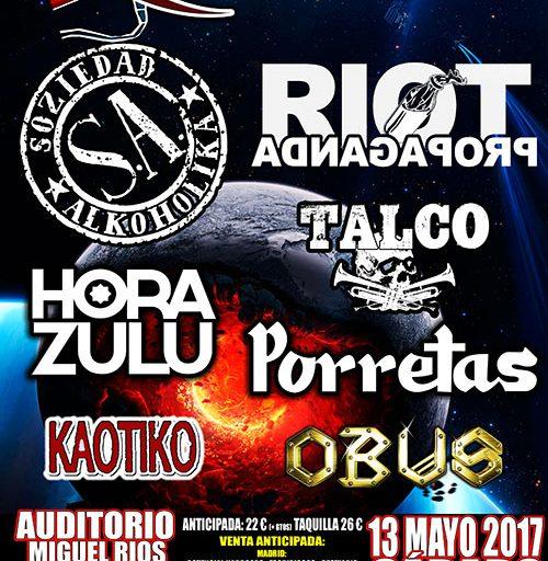 Concierto Festival RivasRock 2017 Auditorio Miguel Ríos Rivas Vaciamadrid 13/05/17