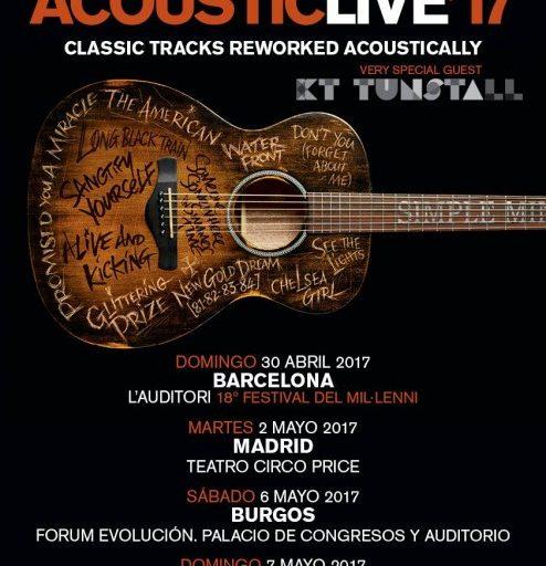 Concierto Simpleminds Acoustic Live 17 Teatro Circo Price Madrid 02/05/17