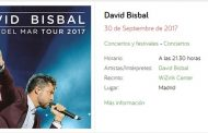 Concierto David Bisbal  Wizink Center Madrid 30/09/17
