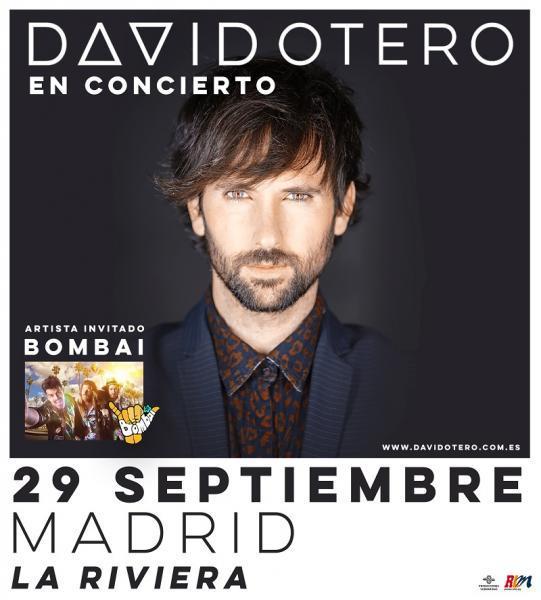 Concierto David Otero Sala La Riviera Madrid 29/09/17 ( FOTOS)