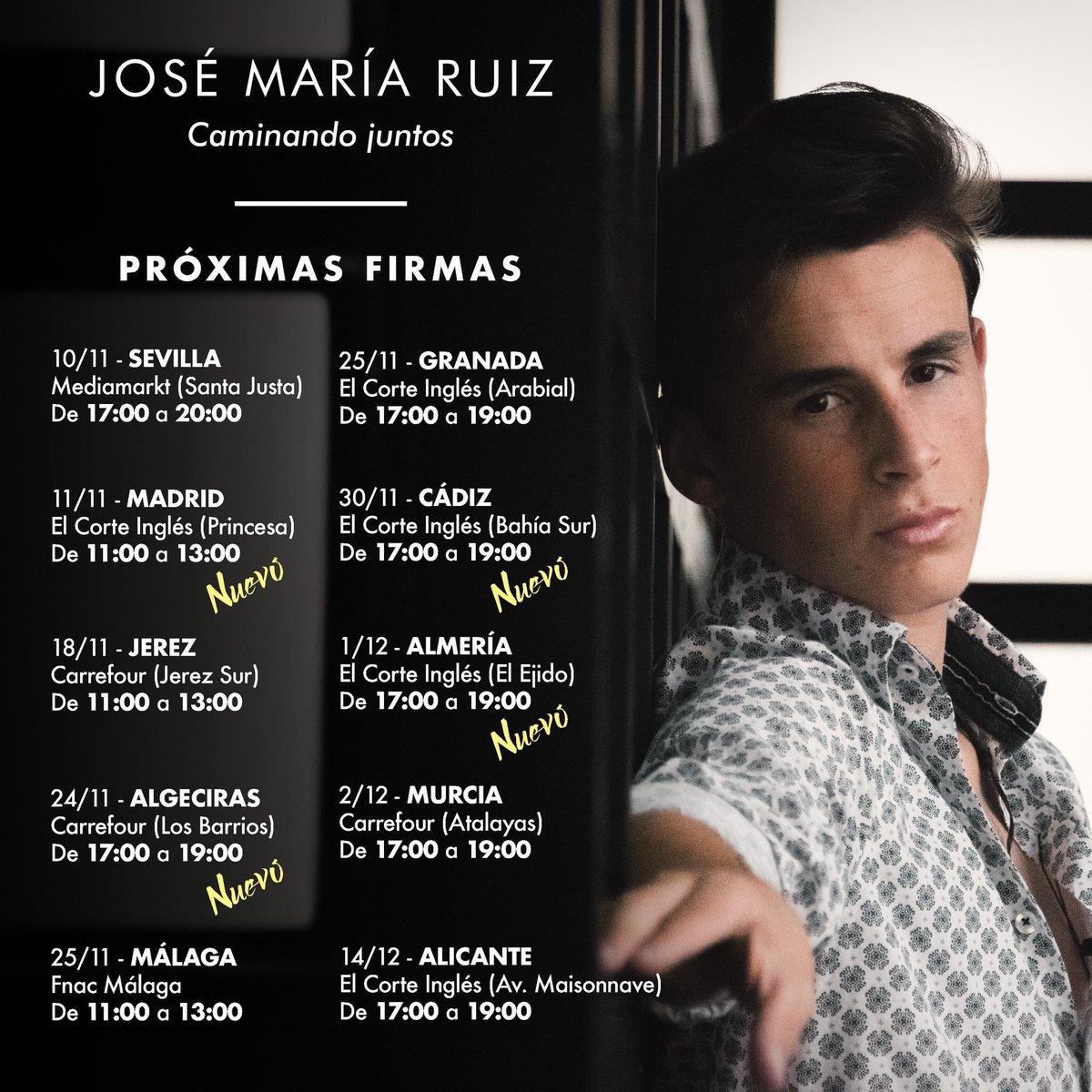 José María Ruiz Firma Su Tercer disco