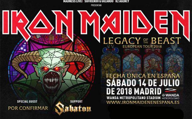 Concierto Iron Maiden  Wanda Metropolitano Madrid 14/07/18