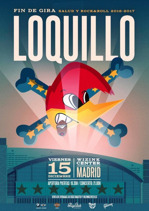 Concierto Loquillo Wizink Center Madrid ( Fin de gira ) 15/12/17