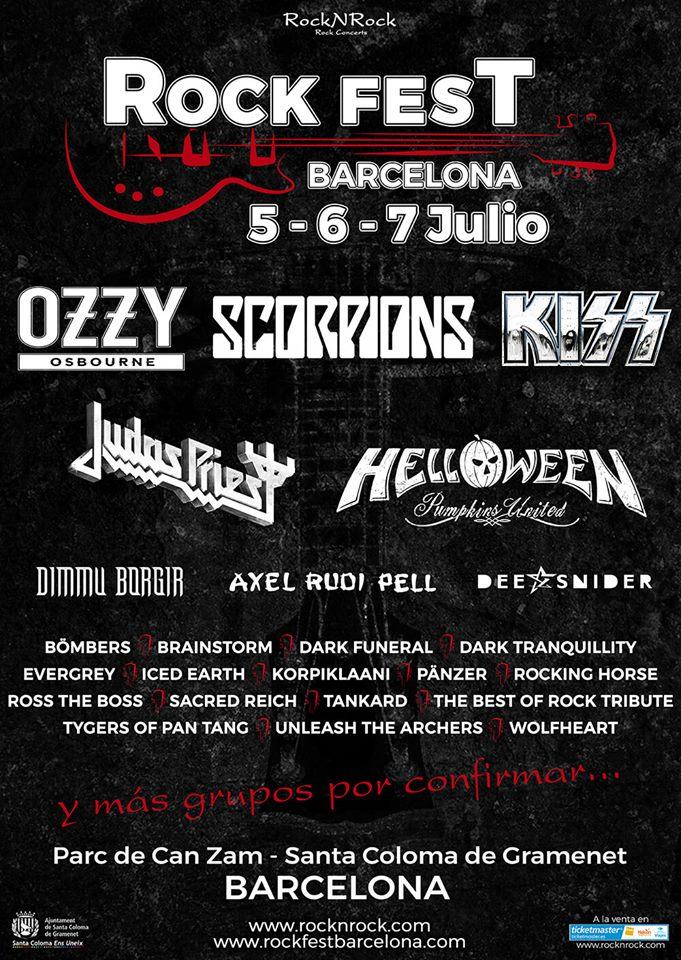 Festival Concierto ROCK FEST En Barcelona