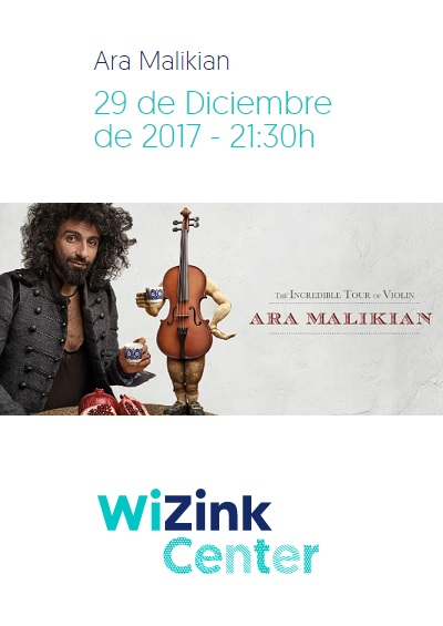 Concierto Ara Malikian Wizink Center Madrid 29/12/17