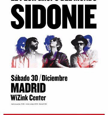 Concierto Sidonie Wizink Center Madrid 30/12/17