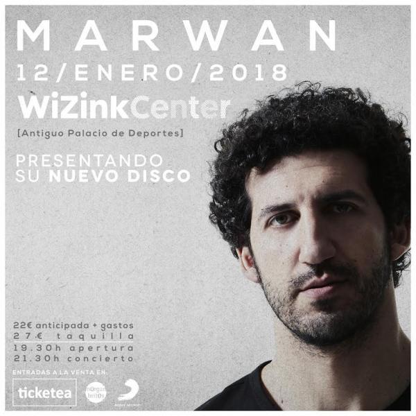 Concierto Marwan Wizink Center Madrid 12/01/18 ( FOTOS )