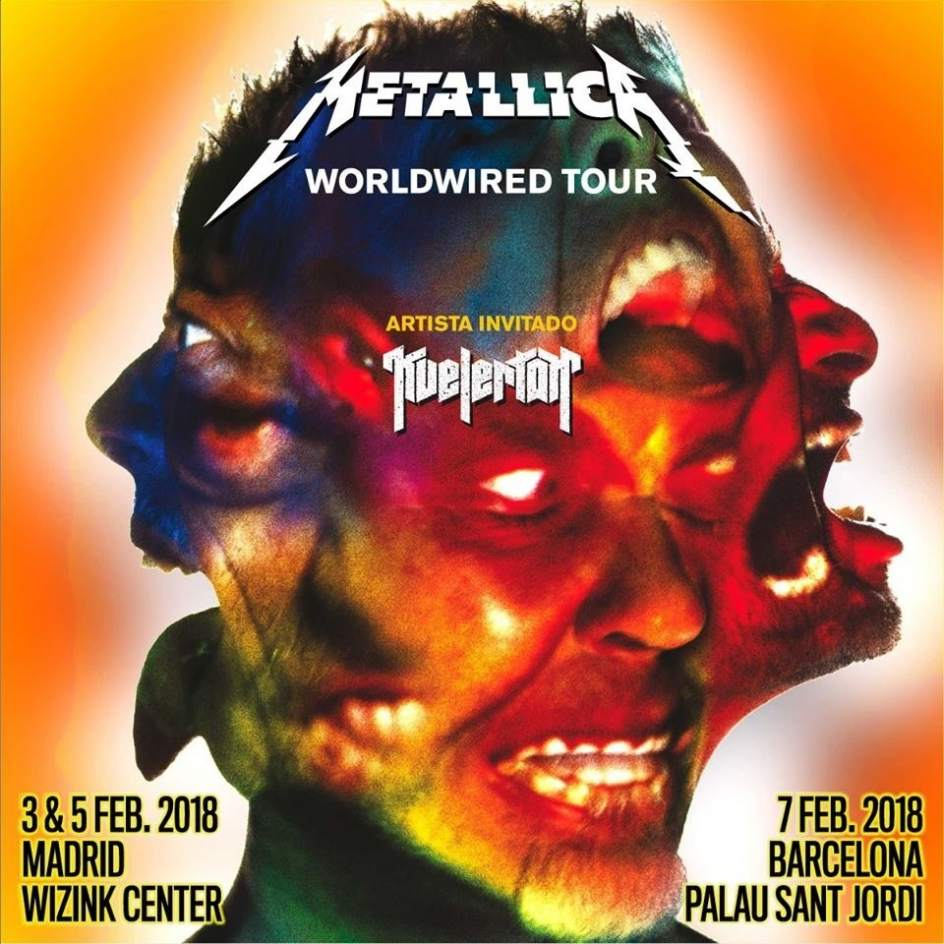 Concierto Metallica Wizink Center Madrid 03/02/18 Y 05/02/18