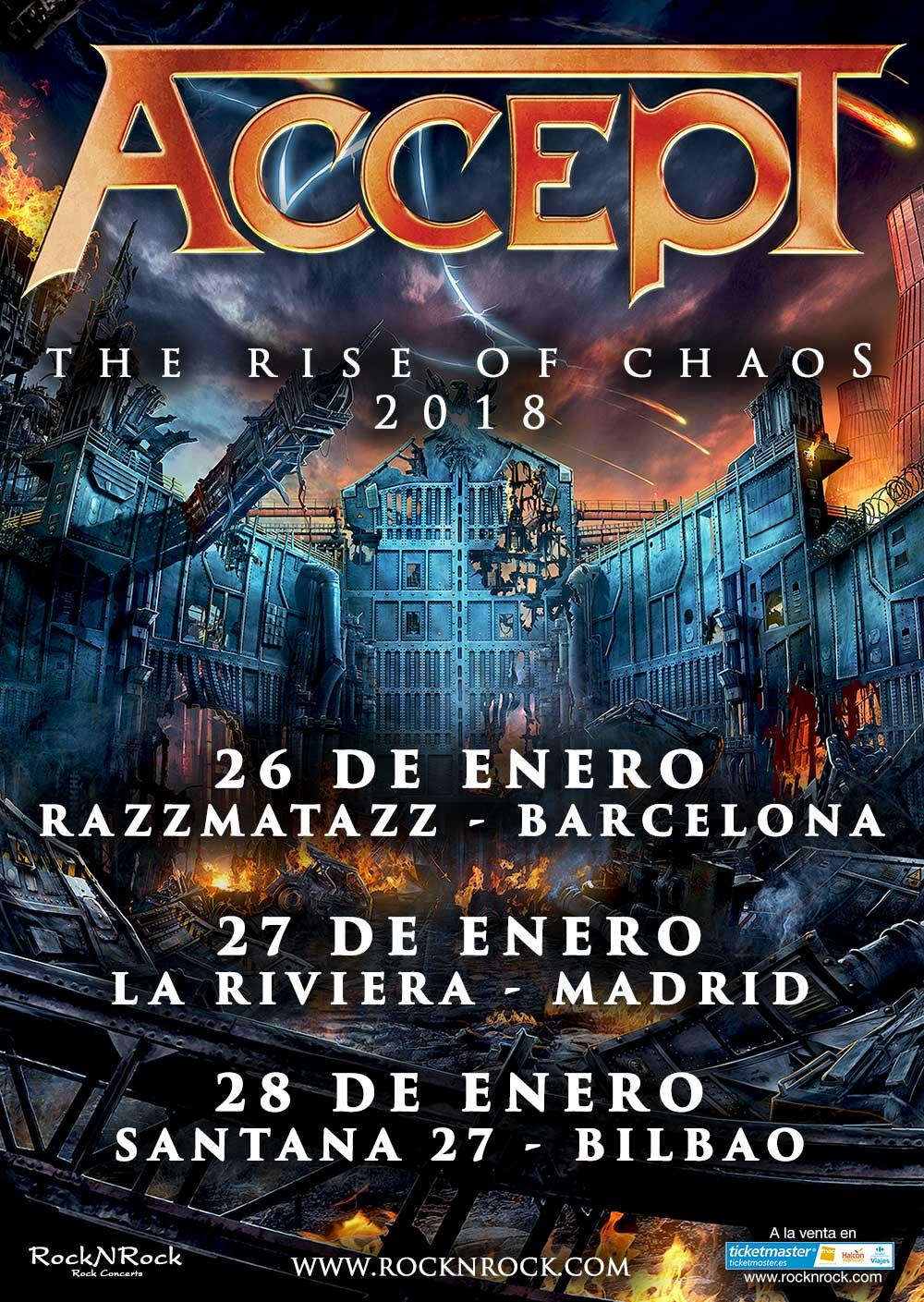Concierto Accept Sala La Riviera Madrid 27/01/18