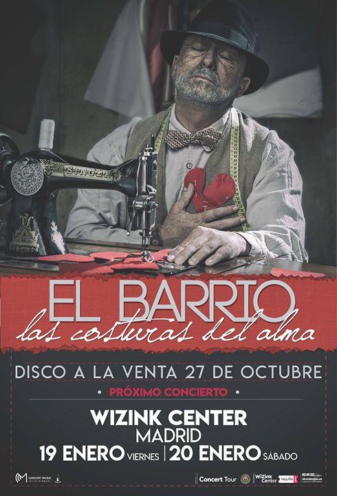 Concierto El Barrio Wizink Center Madrid 19/01/18 ( FOTOS )
