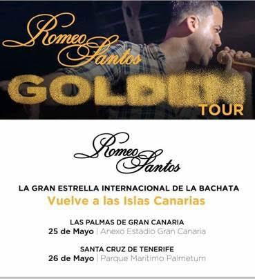 """ROMEO SANTOS, LA GRAN ESTRELLA INTERNACIONAL DE LA BACHATA, AÑADE 2 NUEVAS FECHAS EN CANARIAS A SU GIRA """"GOLDEN TOUR"""" EN ESPAÑA"""