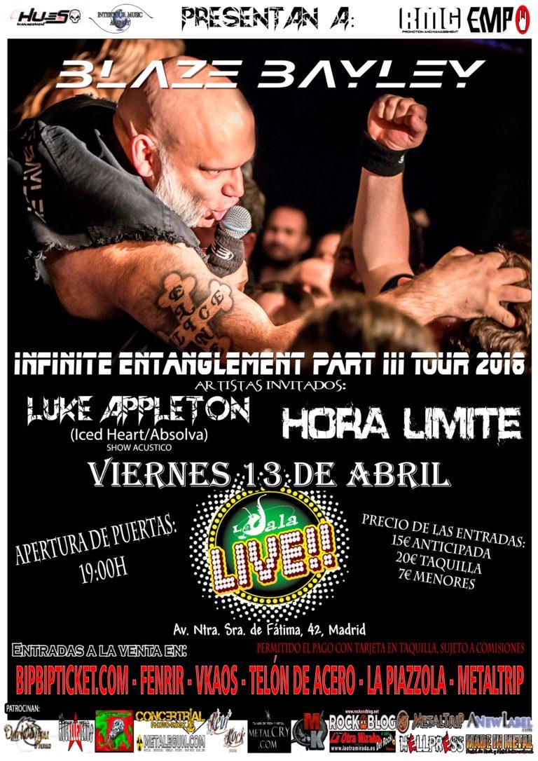 Concierto Blaze Blayley Sala Live 13/04/18 ( FOTOS )