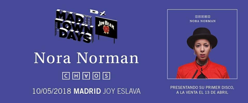 Concierto Nora Norman Sala Joy Eslava 10/05/18 ( FOTOS )