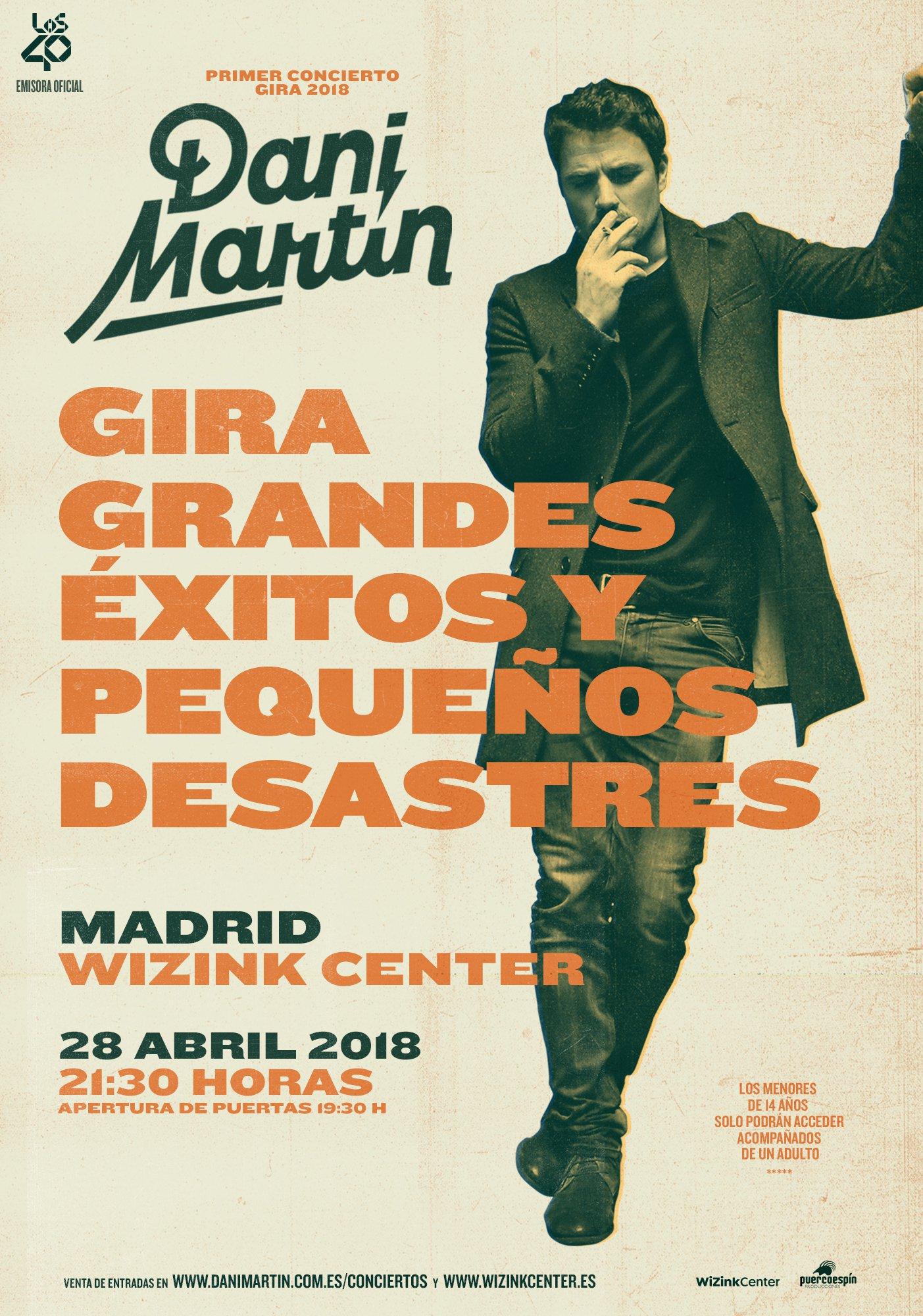 Concierto Dani Martin Wizink Center 28/04/18 ( FOTOS )