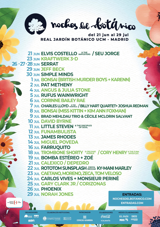 Noches Del Botánico Del 21 De Junio Al 29 De Julio
