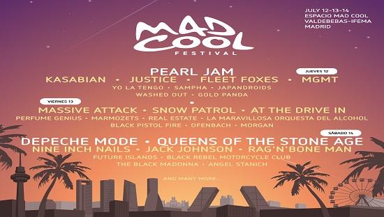 concierto Mad Cool Festival 12/13/14 Julio