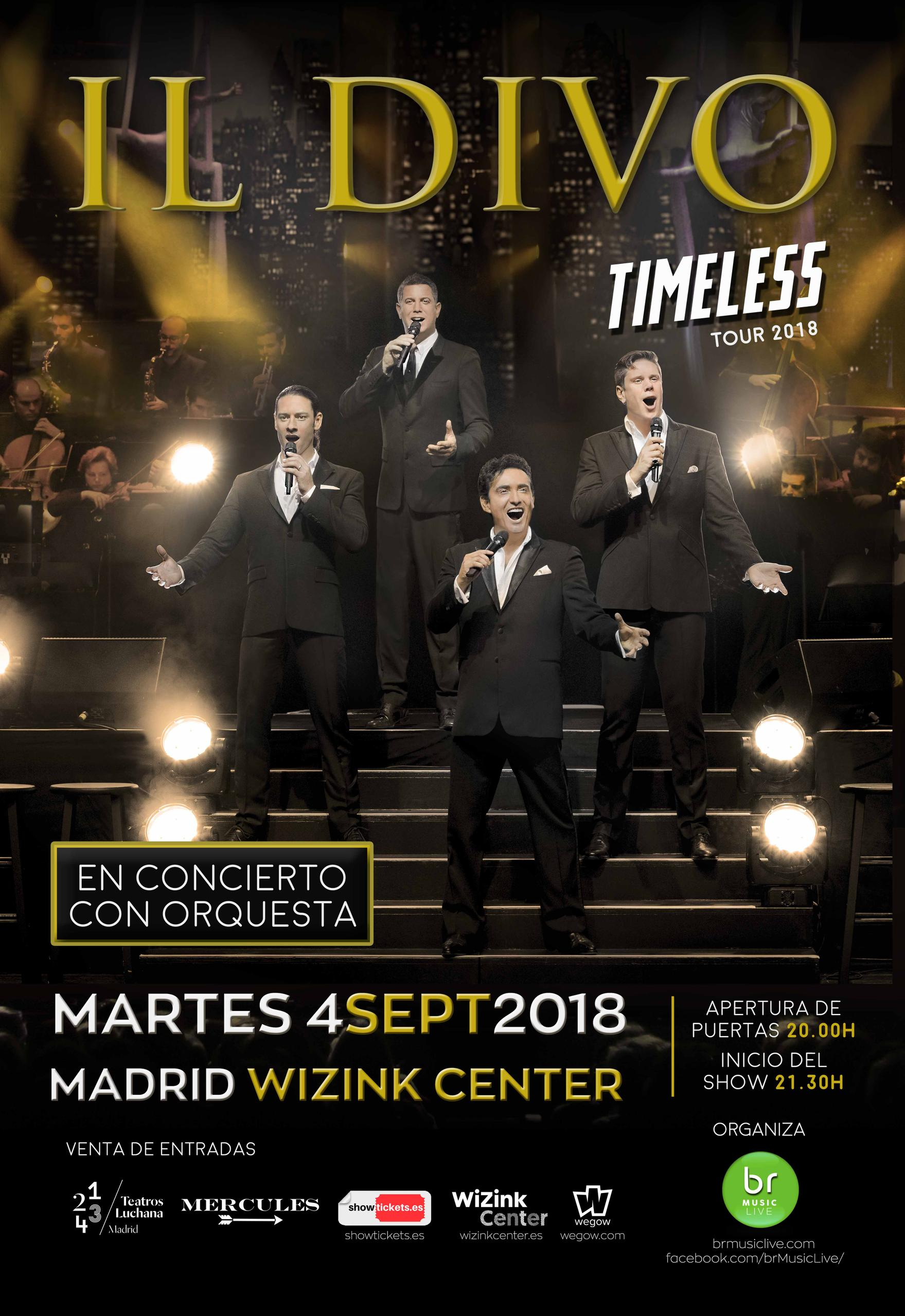 Concierto ILDivo Wizink Center Tour Timeless 04/09/18 ( FOTOS ) , ( CRONICA)