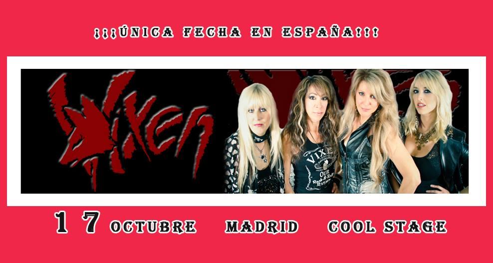 Concierto Vixen En La Sala Cool Stage En Madrid