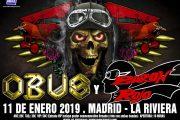 Concierto Obus + Baron Rojo Sala La Riviera 11/01/19