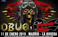 Concierto Obus + Baron Rojo Sala La Riviera 11/01/19 ( FOTOS )