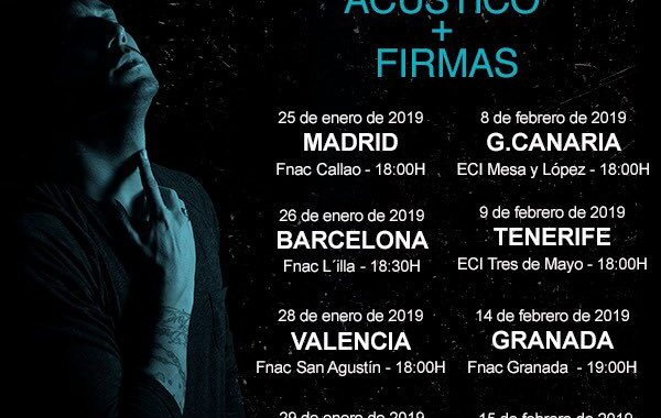Firma De Disco Y Concierto acustico De Jadel en el Fnac de Callao 25/01/19 ( FOTOS )