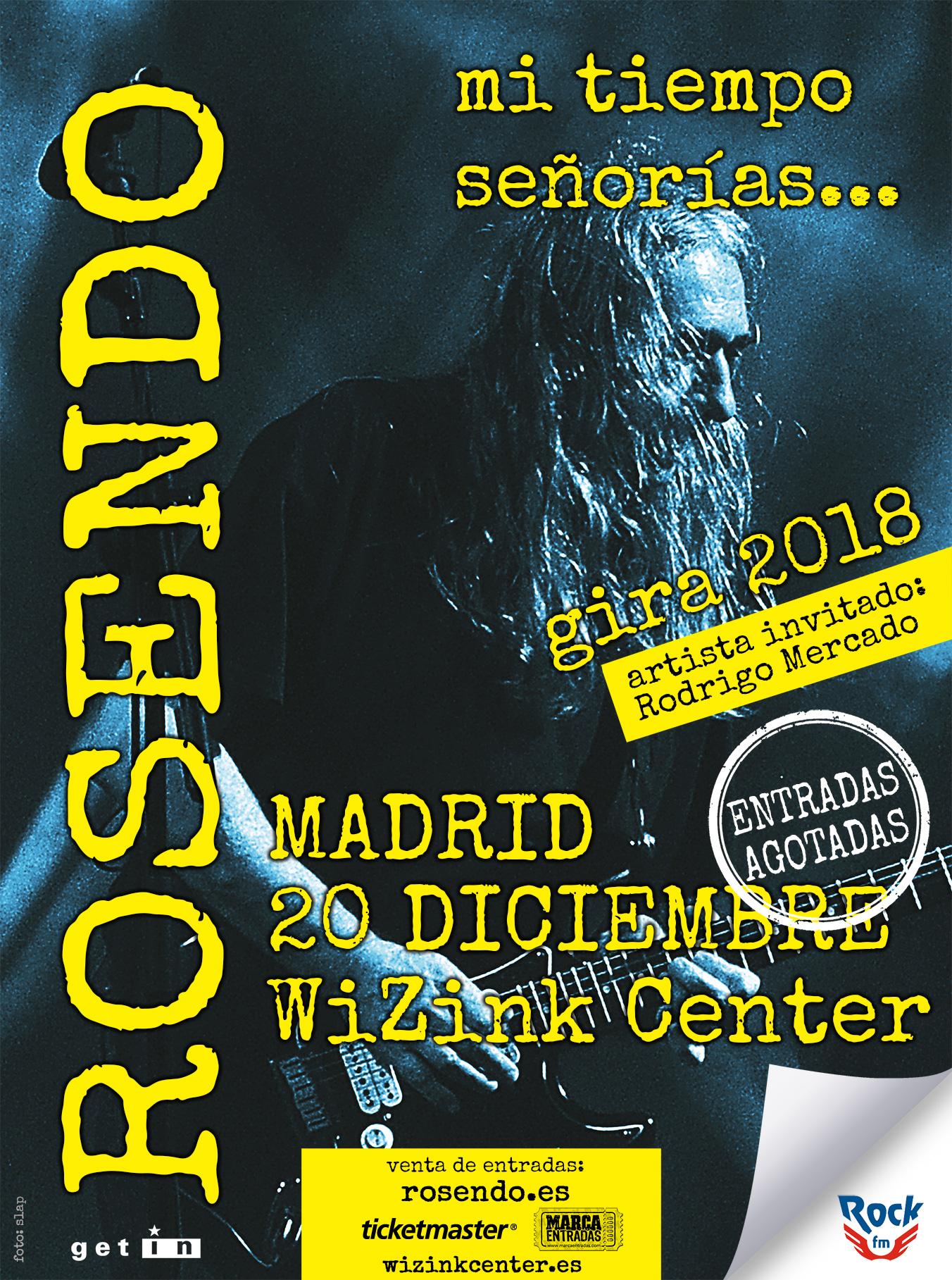 Concierto Despedida De Rosendo Wizink Center 20/12/18 ( FOTOS )