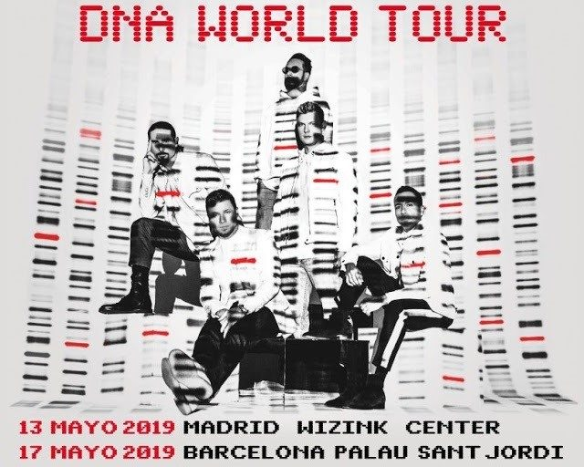 Conciertos Backstreet Boys En Madrid Y Barcelona Tour Dna World
