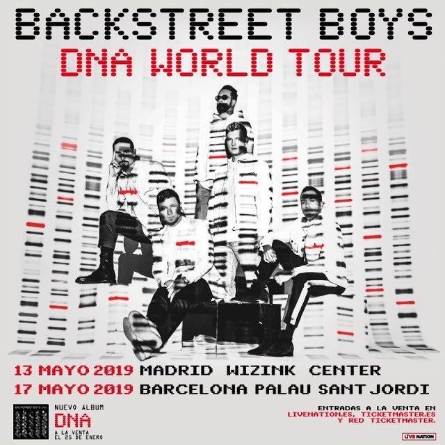 Conciertos Backstreet Boys En Madrid Y Barcelona Tour Dna World