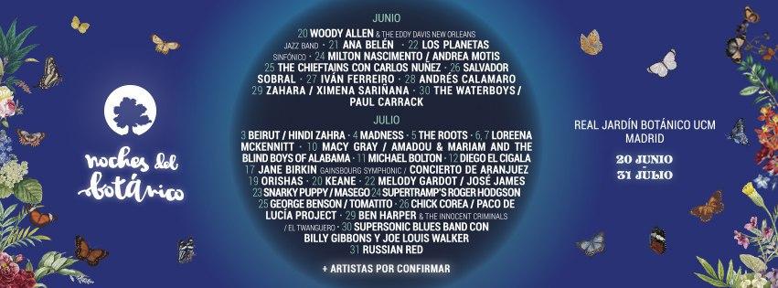 Cartel Noches Del Botanico 2019