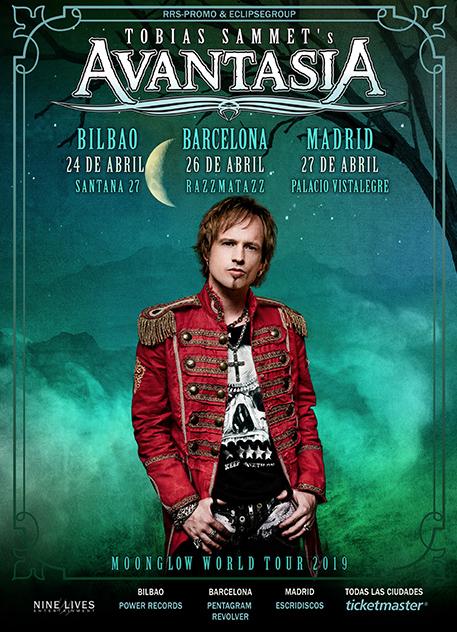 Conciertos Avantasia en Bilbao, Barcelona y Madrid