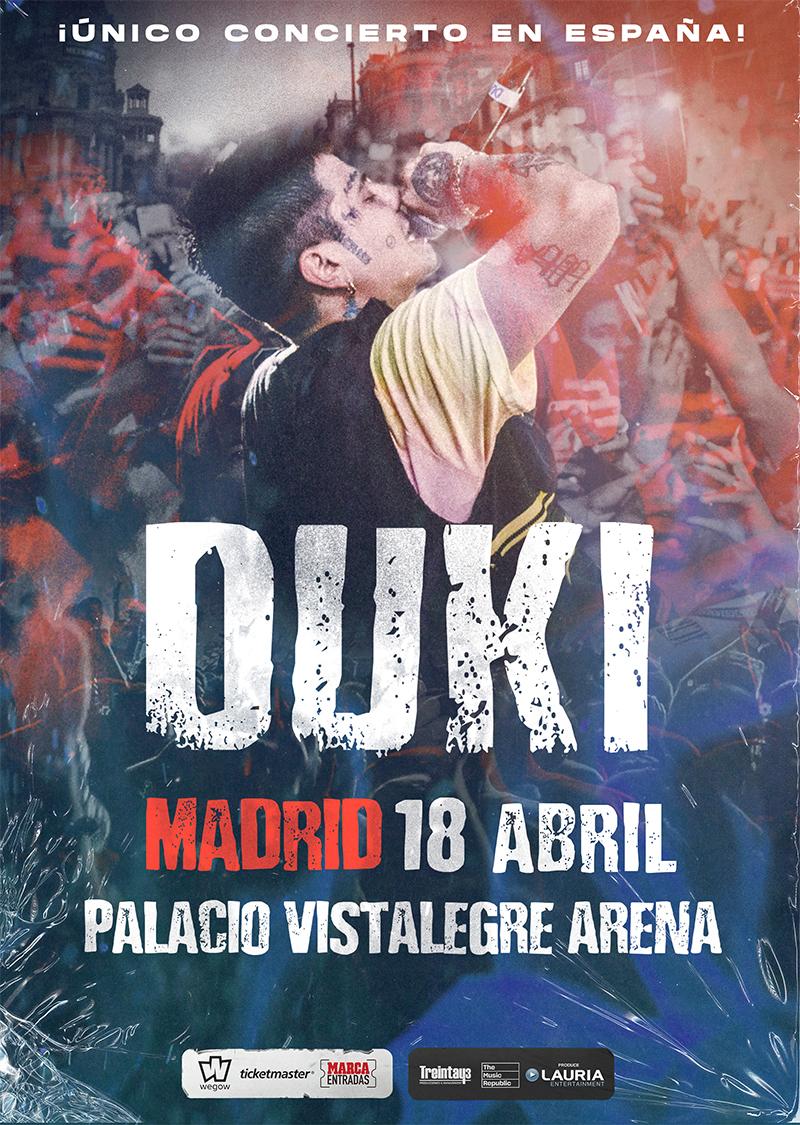 Concierto Duki el 18 de Abril 2020 se pasa al 04 de Septiembre 2020 en el mismo recinto Palacio Vistalegre Arena Madrid