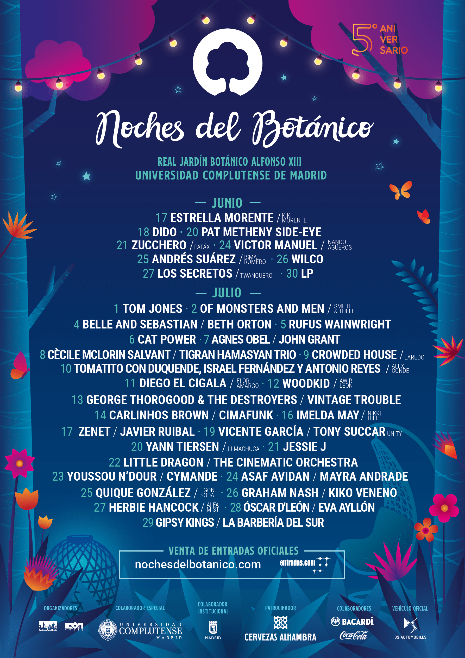 COMUNICADO OFICIAL NOCHES DEL BOTÁNICO